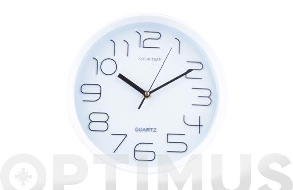 Reloj pared redondo ø25 cm - blanco