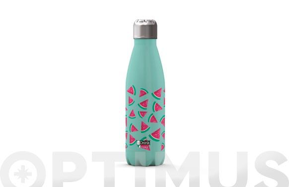 Botella termo inox 500 ml - sandia