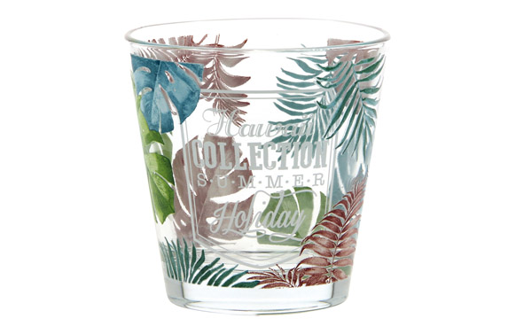 Vaso agua decorado pack 3u 25 cl - hawaii