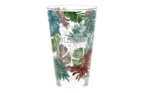 Vaso alto decorado pack 3u 31 cl - hawaii