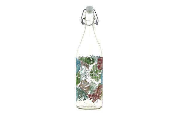 Botella cristal decorada 1 l - hawaii
