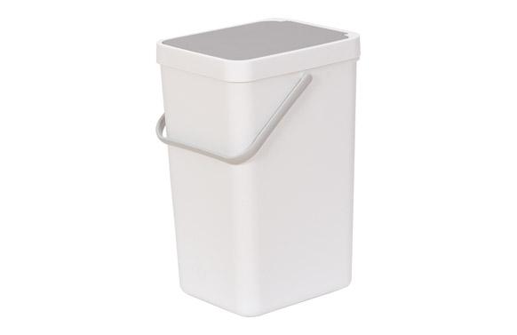Cubo de reciclaje de 18 l 20,5 x 27 x 40 cm
