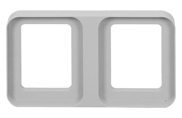 Soporte de suelo para cubos reciclaje 24 x 41,3 cm - doble