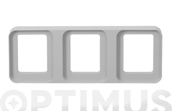 Soporte de suelo para cubos reciclaje 24 x 63,8 cm - triple