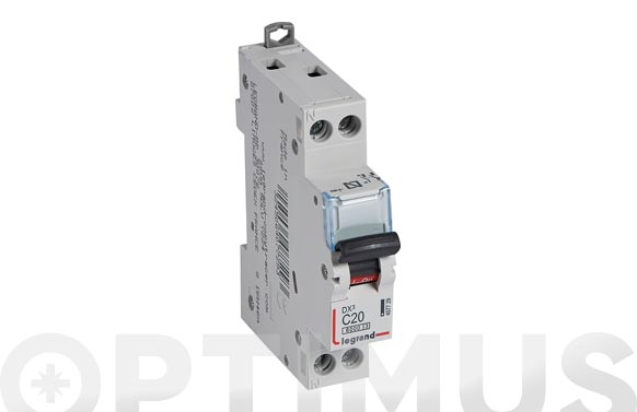Magnetotermico dx3 p + n c20 1 modulo 6/20ka-p/negra