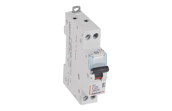 Magnetotermico dx3 p + n c25 1 modulo 6/25ka-p/negra