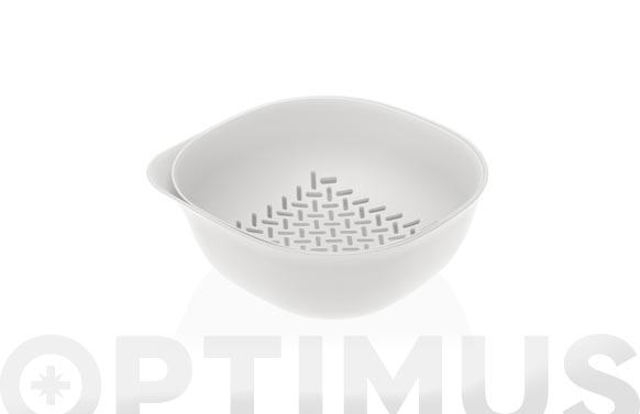 Colador con bol blanco - ø23 x 9,5 cm