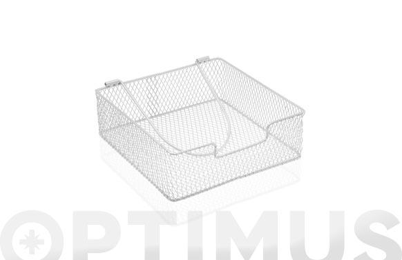 Servilletero rejilla blanco - 20,5 x 7 cm