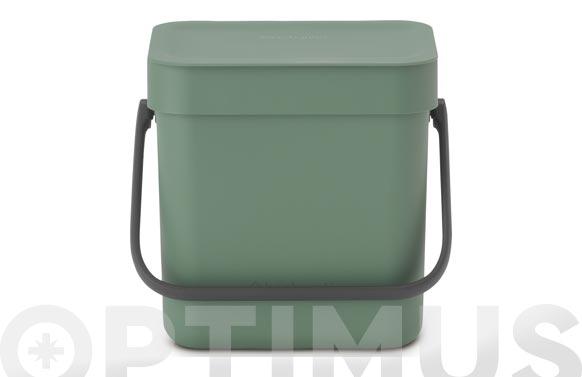 Cubo reciclaje sort & go' verde abeto 3 l