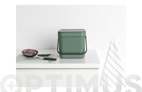 Cubo reciclaje sort & go' verde abeto 6 l