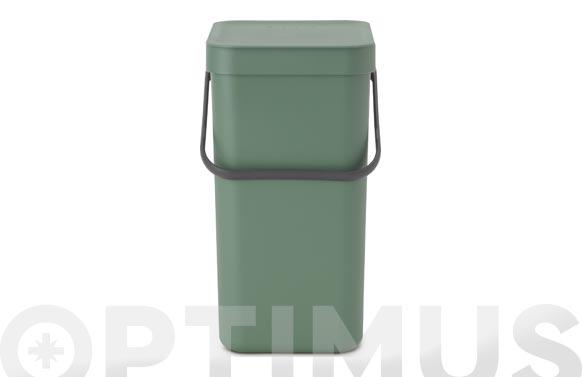 Cubo reciclaje sort & go' verde abeto 12 l