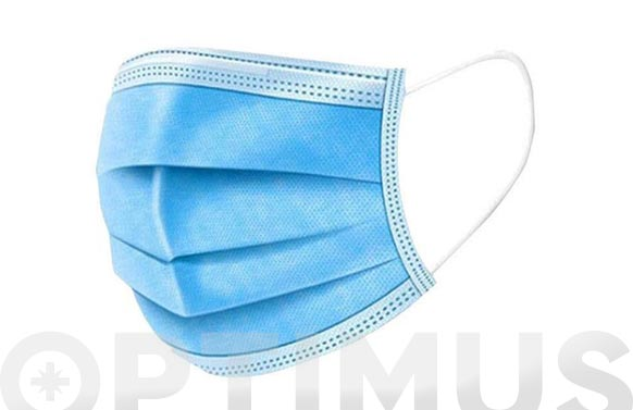 Mascarilla higienica 3 capas 175x95 mm 50 unidades no reutilizable