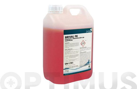 Detergente bactericida brival fk 5 l