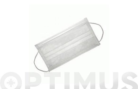 Mascarilla desechable 3 capas 50 unidades 175x95 mm uso interno