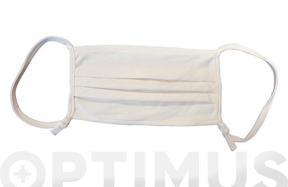 Mascarilla reutilizable antivirica 75 lavados ajustable adulto blanca