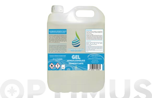 Gel hidroalcoholico desinfectante 5 l