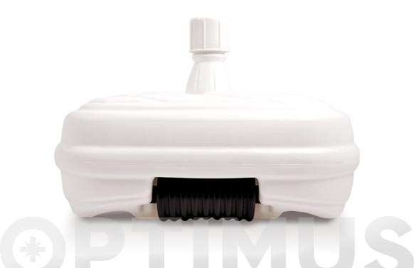 Pie parasol rellenable con ruedas 48 l ø 33-48 mm blanco