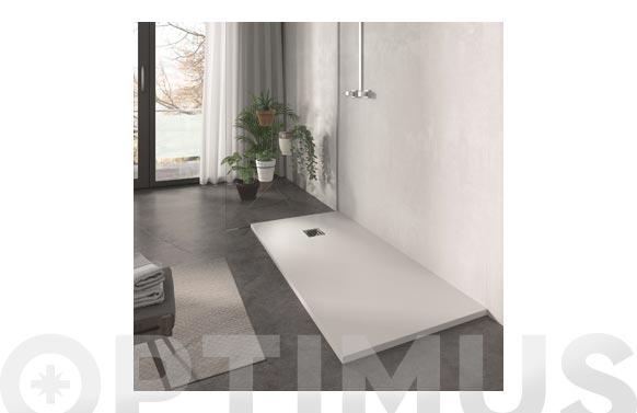 Plato de ducha de resina blanco 120 x 80 cm
