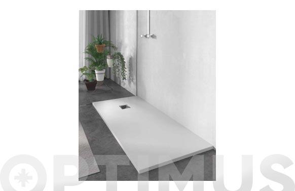 Plato de ducha de resina blanco 100 x 70 cm