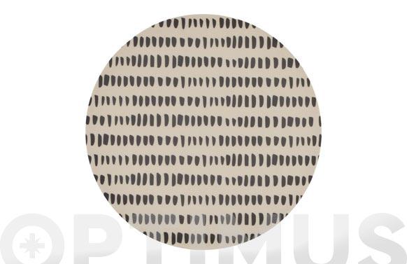 Plato fibra bambu print postre - 19,7 cm