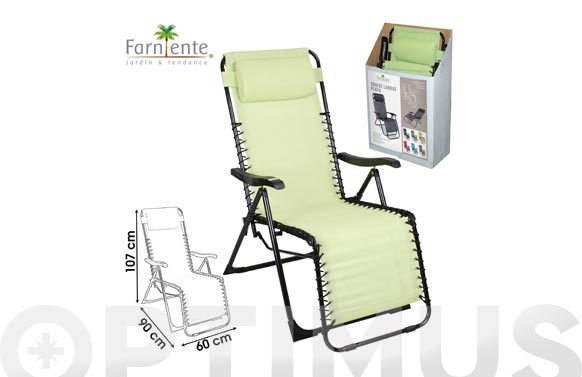 Sillon relax plegable eco-option anis