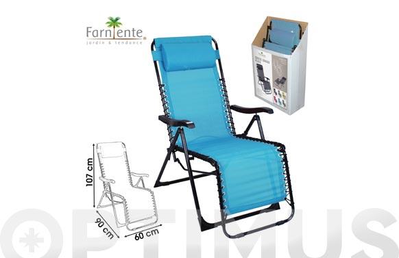 Sillon relax plegable eco-option azul