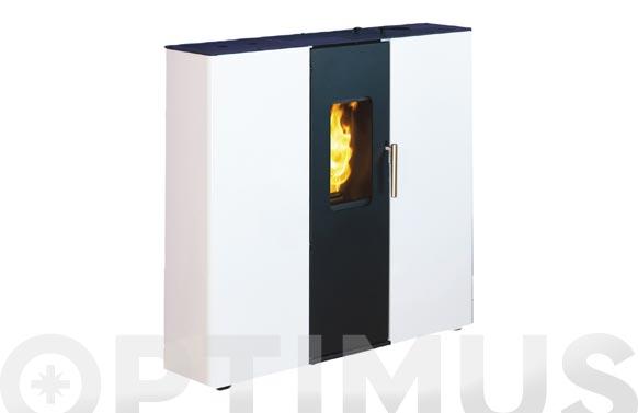 Estufa de pellet tmc 850 9,4 kw negro/blanco