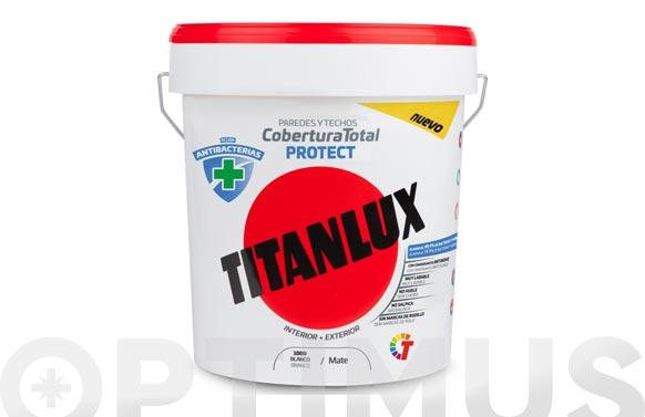 Pintura plastica antibacterias titan blanco 4l