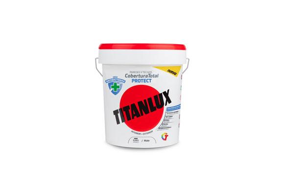 Pintura plastica antibacterias titan blanco12.5l