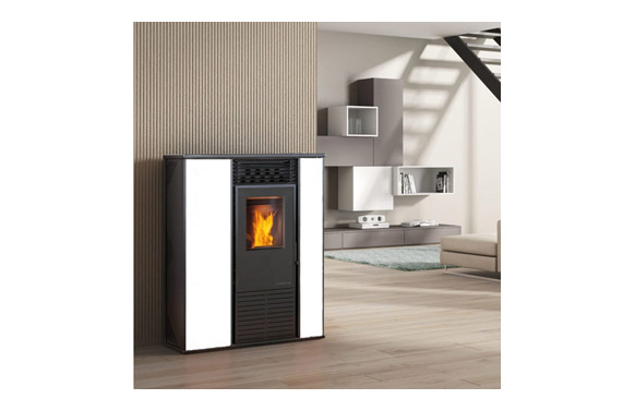Estufa de pellet alice 14.3kw color blanco