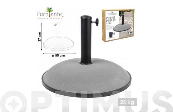 Pie parasol cemento 25 kg gris claro