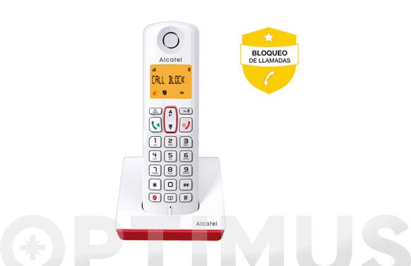 Telefono inalambrico s250 call block blanco