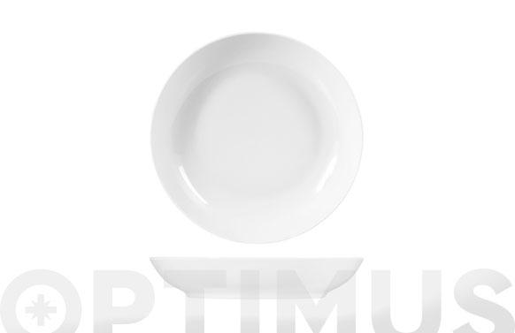 Plato porcelana sweden coupe blanco hondo - 20 cm