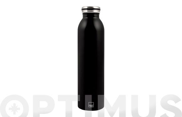 Botella termo inox 0,75 cl - negro