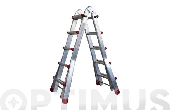 Escalera telescopica aluminio 4+4 peldaños