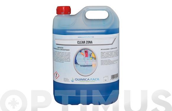 Limpiador suelos higienizante clear zona 5 l