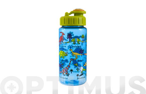 Botella infantil con pajita dinosaurios 400 ml