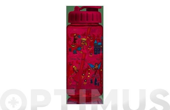 Botella infantil con pajita new princesas 400 ml