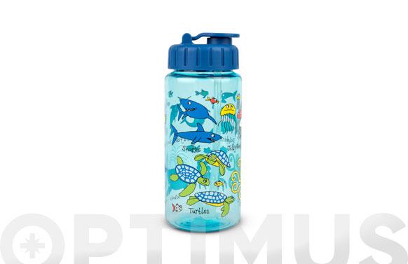Botella infantil con pajita oceano 400 ml