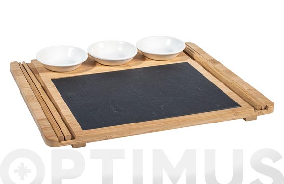 Sushi set regalo 9 pzas - 24x29 cm