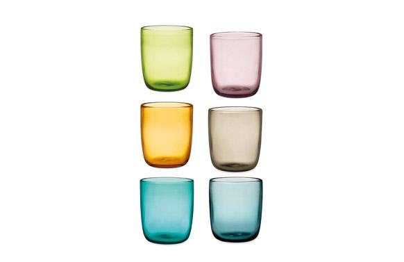 Vaso vidrio saturno 35 cl - surtido