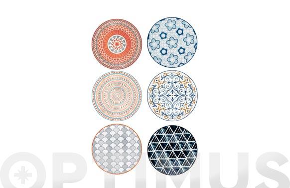 Plato porcelana coupe decorado postre-19 cm surtido