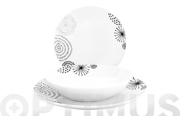 Vajilla porcelana 18 piezas swing coupe