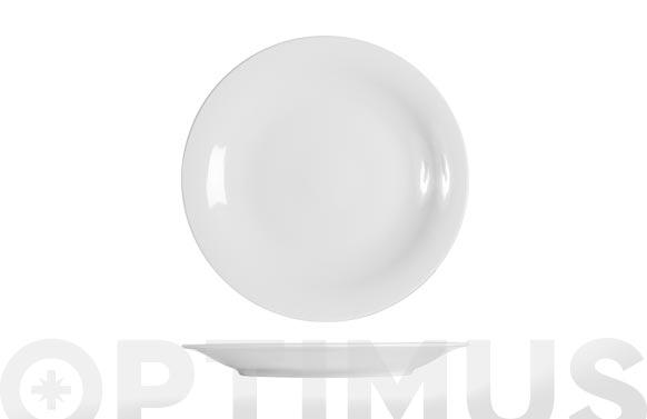 Plato porcelana grabado blanco presentacion-31 cm