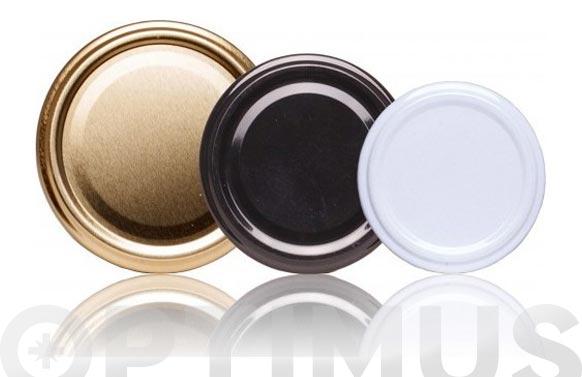 Tapa metalica blanca pasteurizable tarro 500/1 kg 25 u-7.7 cm/ 6 uñas