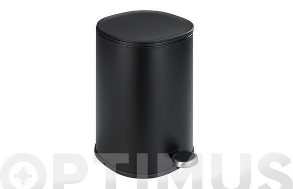 Cubo baño con pedal nant negro 5 l