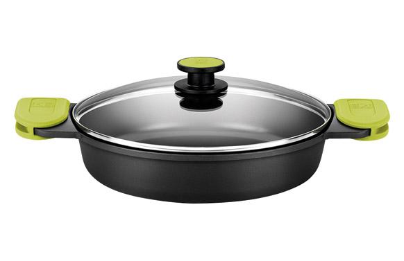 Cazuela baja aluminio fundido foodie 40 cm - inducción