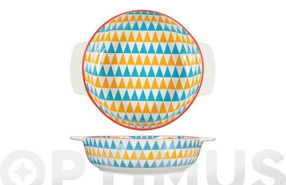 Fuente porcelana redonda full decorado ø21cm - surtido