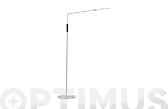 Lampara pie flexible led 9w blanca