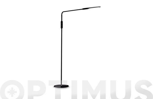 Lampara pie flexible led 9w negra